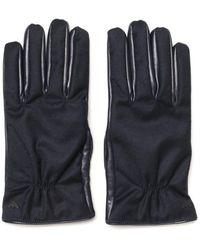 Emporio Armani Leather Blue Gloves