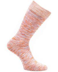 Norse Projects Bjarki Blend Socks - Burnt Havtorn - Pink