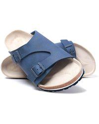 Birkenstock Zurich Desert Soil Blue Birko-flor Sandals