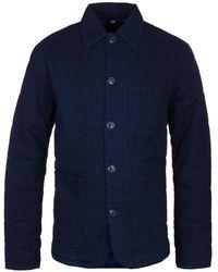 Edwin - Indigo Garment Dyed Padded Union Jacket - Lyst