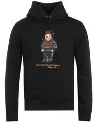 Polo Ralph Lauren Lunar New Year Polo Bear Hooded Sweatshirt - Black