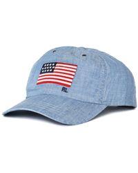 Polo Ralph Lauren Chambray Blue Flag Cap