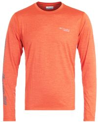 Columbia Trinity Trail Ii Long Sleeve T-shirt - Orange