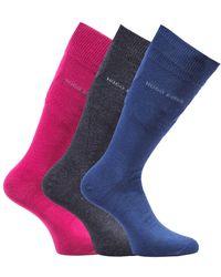 BOSS by Hugo Boss - Bodywear 3 Pack Gift Boxed Burgundy & Dark Socks - Lyst