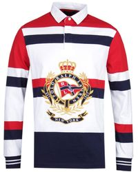 Polo Ralph Lauren Classic Fit Crest Red Multi Rugby Shirt