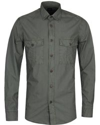 BOSS Orange - Boss Rebus Khaki Military Overshirt - Lyst