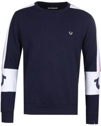 True Religion Contrast Rugby Blue Jumper