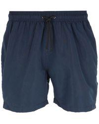 Barbour Contrast Stripe Navy Swim Shorts - Blue