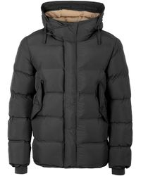 Pretty Green Thermo Bonded Hooded Puffer Jacket - Black