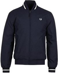 Fred Perry Bomber Jacket - Blue
