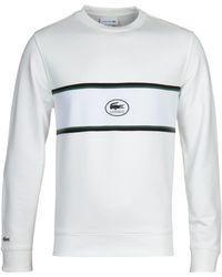 Lacoste Homme White Stripe Sweatshirt