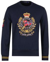 Polo Ralph Lauren Newport Flags Crest Navy Sweatshirt - Blue