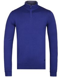 Armani Jeans - Bluette Quarter Zip Knitted Sweatshirt - Lyst