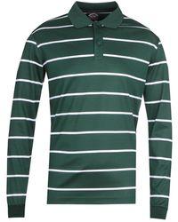 Paul & Shark Stripe Long Sleeve Green Polo Shirt