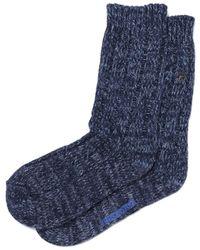 Birkenstock Tonal Navy Cotton Twist Socks - Blue