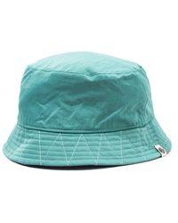 Pretty Green Crinkle Nylon Bucket Hat - Blue