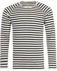 Nudie Jeans Breton Stripe Long Sleeve T-shirt - Black