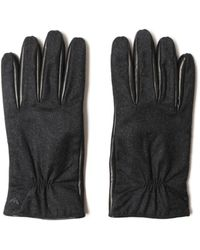 Emporio Armani Leather Gloves - Black