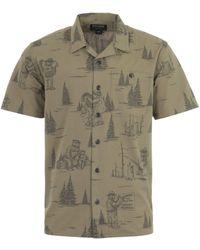Filson Smokey Bear Field Short Sleeve Flannel Shirt - Green