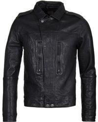 Pretty Green - Delcott Black Leather Jacket - Lyst