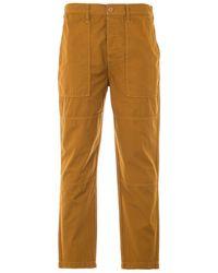 Edwin Block Garment Dyed Ripstop Pants - Brown