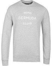 Henri Lloyd - Abercraf Grey Marl Crew Sweatshirt - Lyst