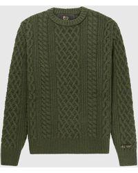 Woolrich Aimé Leon Dore / Braided Sweater - Green
