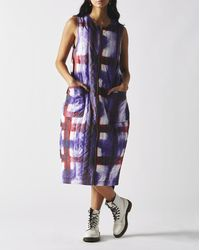 Stussy Women's Blurry Quilted Sleeveless Dress - Purple