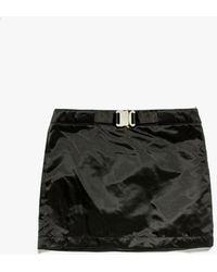 1017 ALYX 9SM Women's Buckle Nylon Satin Skirt - Black