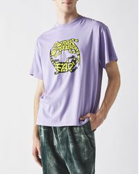 Brain Dead Lizard Lock T-shirt - Purple
