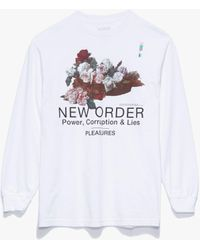 Pleasures Power Long Sleeve T-shirt - White