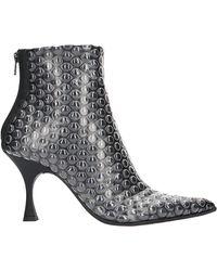 MM6 by Maison Martin Margiela Bubble Wrap Print Ankle Boots - Black