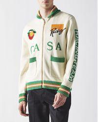 CASABLANCA Casa Racing Intarsia Knit - Green