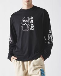 Brain Dead Trailhead Long Sleeve T-shirt - Black