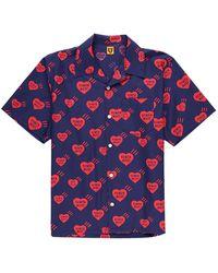 Human Made Heart Pattern Aloha Shirt - Blue