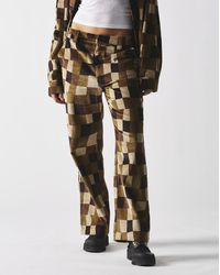 Stussy Women's Wobbly Check Pants - Brown