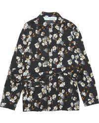 Off-White c/o Virgil Abloh Women's Crepe Pajama Shirt - Black