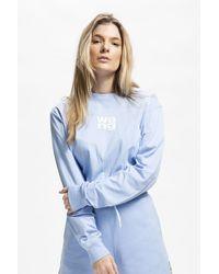 Alexander Wang Women's Garment Washed Long Sleeve T-shirt - Blue