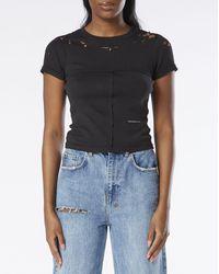 Eckhaus Latta Women's Lapped Baby T-shirt - Black