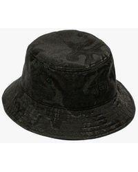 Stussy Jacquard Hawaiian Bucket Hat - Black