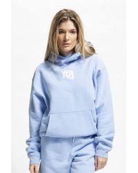 Alexander Wang Women's Garment Washed Hoodie - Blue