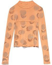 Eckhaus Latta Women's Lapped Baby Turtleneck - Orange