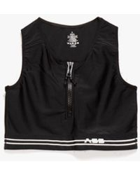 Adam Selman Sport Women's Zip-front Crop Top - Black