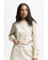 Alexander Wang Women's Garment Washed Long Sleeve T-shirt - Natural