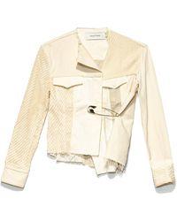 Marques'Almeida Women's Patchwork Asymmetric Jacket - Natural