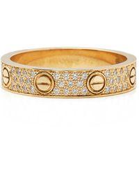 Cartier 18k Yellow Gold Diamond Love Ring - Metallic