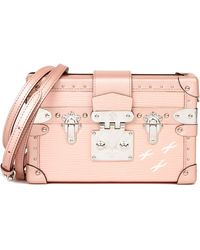 Louis Vuitton Pink Metallic Epi Leather & Calfskin Petite Malle
