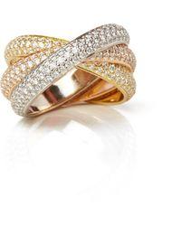 Cartier Yellow Gold Panthere De Bracelet Size 16 - Metallic