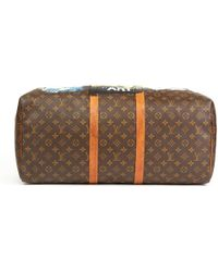 Louis Vuitton - Xupes X Year Zero London Hand-painted '17th Century Snob' Brown Coated Monogram Canvas Keepall 55 - Lyst