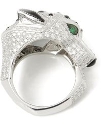 Cartier - 18k White Gold Diamond Panthère Ring - Lyst